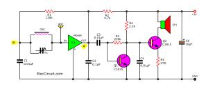 Simple AM radio receiver circuit with earphone  Eleccircuit