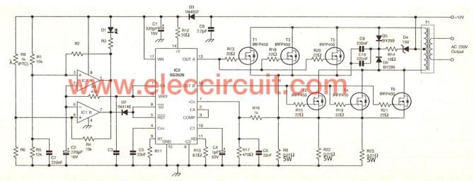 sine wave inverter schematic diagram  enthusiast wiring