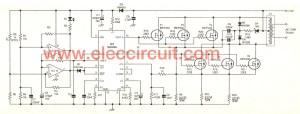 Inverter circuit, 12 Volt to 220 Volt at 500W