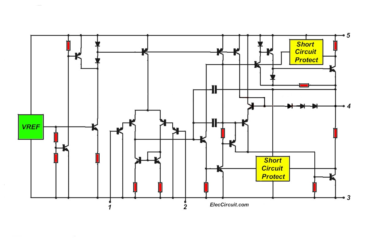 Stereo Power Amplifier Schematics