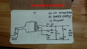 Simple 12V 2A DC power supply  ElecCircuit