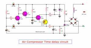 Cheap air pressor time delay circuit  ElecCircuit