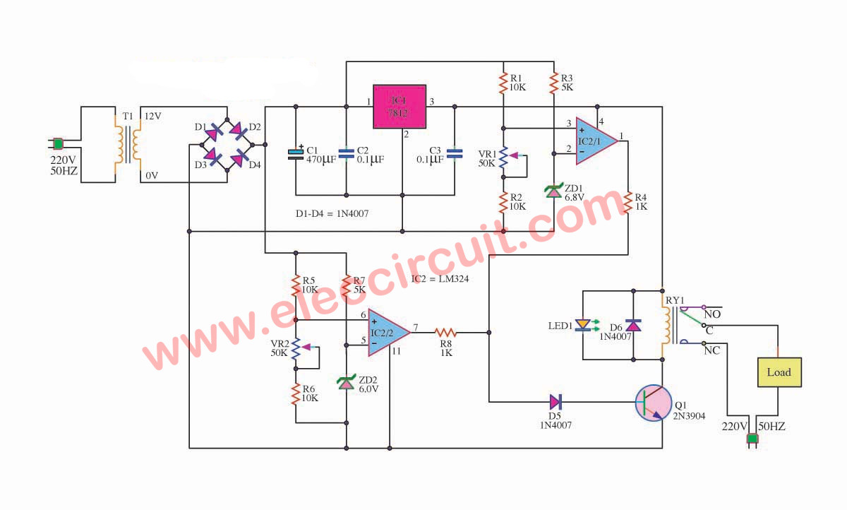 Transformerless Power Supply High Current Electronic Circuit Projects