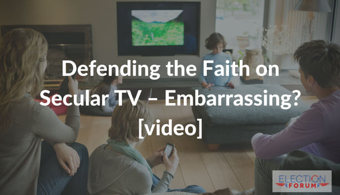 Defending the Faith on Secular TV - Embarrassing? [video]