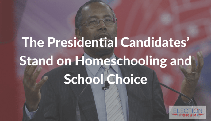 The Presidential Candidates' Stand on Homeschooling and School Choice