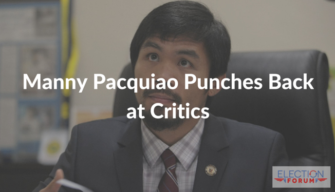 Manny Pacquiao Punches Back at Critics
