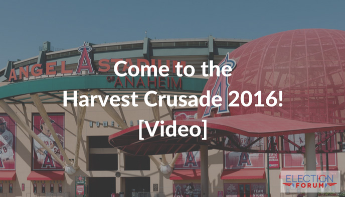 Come to the Harvest Crusade 2016! [Video]
