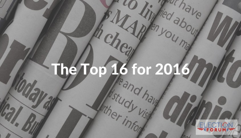 The Top 16 for 2016