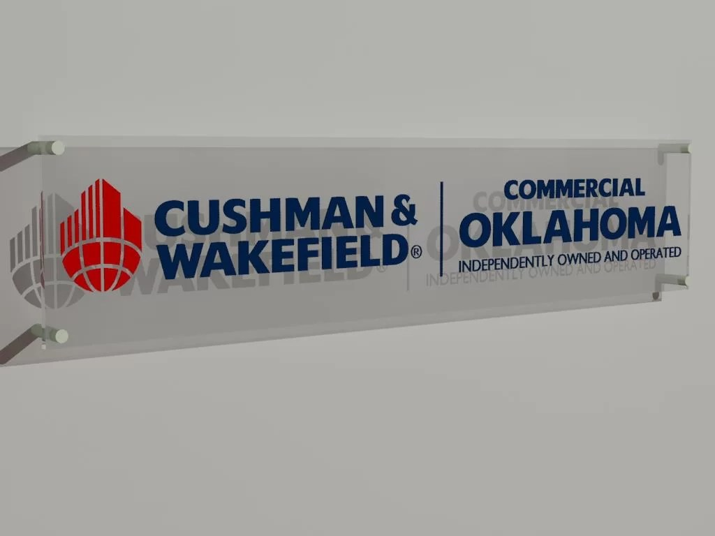 A 3D image of the sign proposed for Commercial Oklahoma.