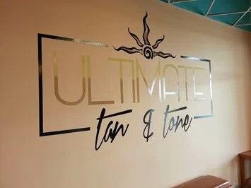 Logo Wall Graphics for Ultimate Tan & Tone