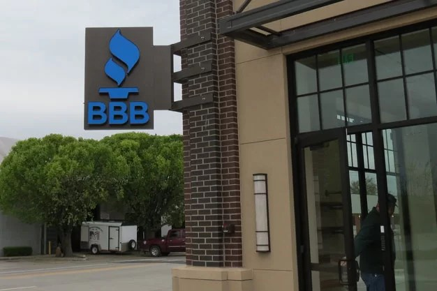 New Custom Sign for Better Business Bureau