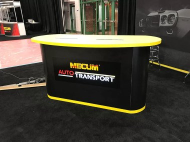 Custom sign for Mecum from Electremedia.
