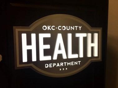 Health Department Podium Logo Sign