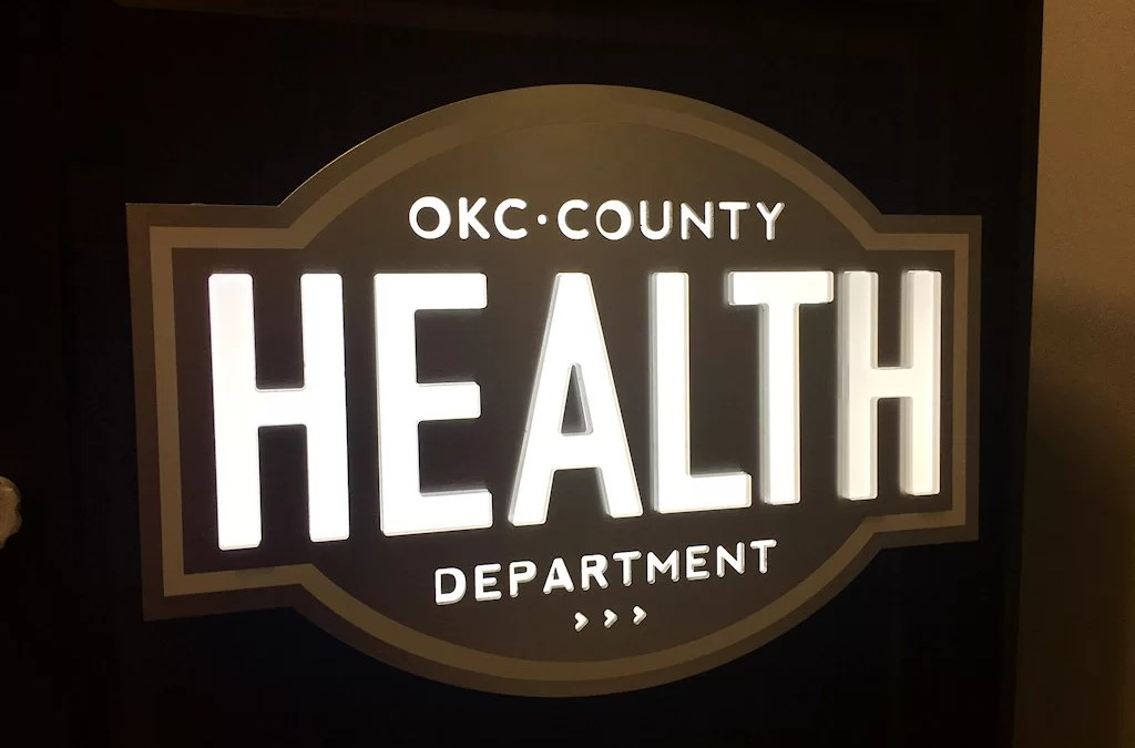 Custom Specialty Sign for OKC Health Department Podium