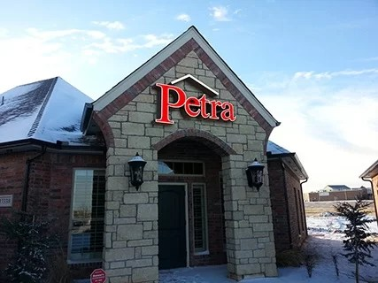 New Wall Sign for Petra Roofing