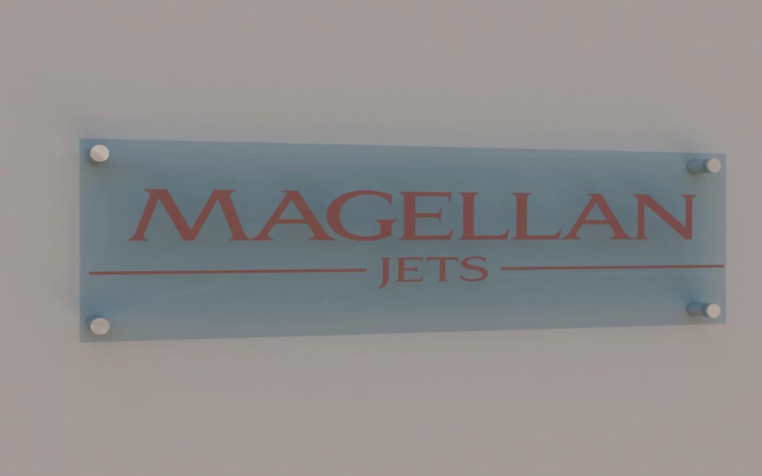 Magellan Jets Chooses Acrylic Office Sign