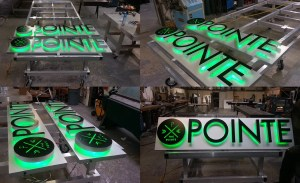 Signs ready for The Pointe at The University of Illinois