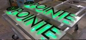 Angle View of Electremedia EM/Lux Series sign for The Pointe