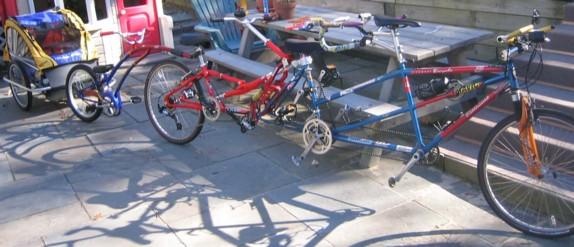 insane tandem bike for 5