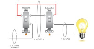 3Way Switch Wiring Diagram : Electrical Online