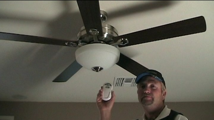 How To Install a Ceiling Fan With Remote Control   Electrical Online PICTURE OF THE CEILING FAN LIGHT KIT ASSEMBLED