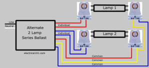 Replace 2 Lamp Series with Parallel Ballast 2  Electrical 101