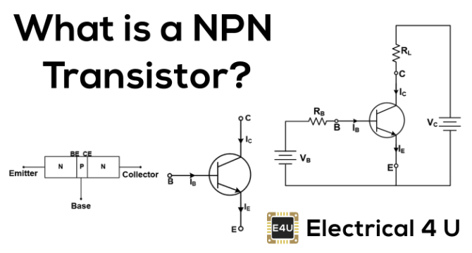 npn transistor what is it symbol  working principle