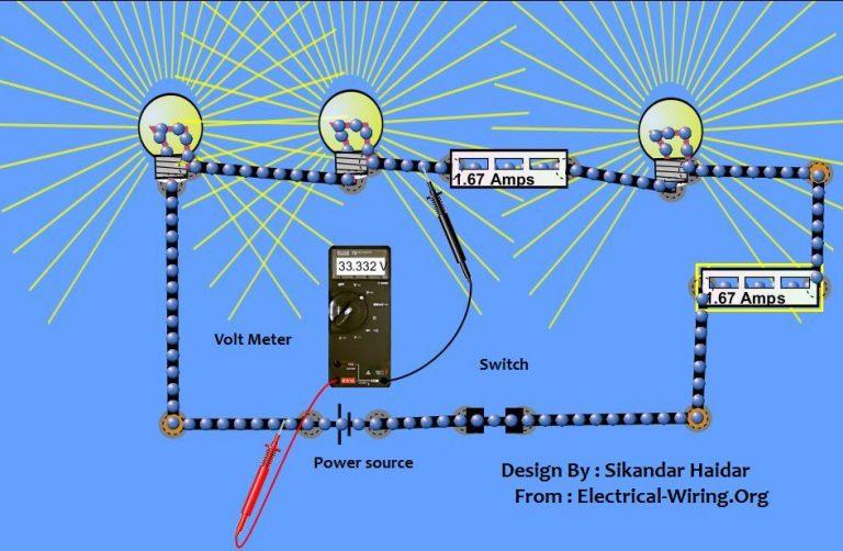 câblage des voyants dans le schéma de connexion en série