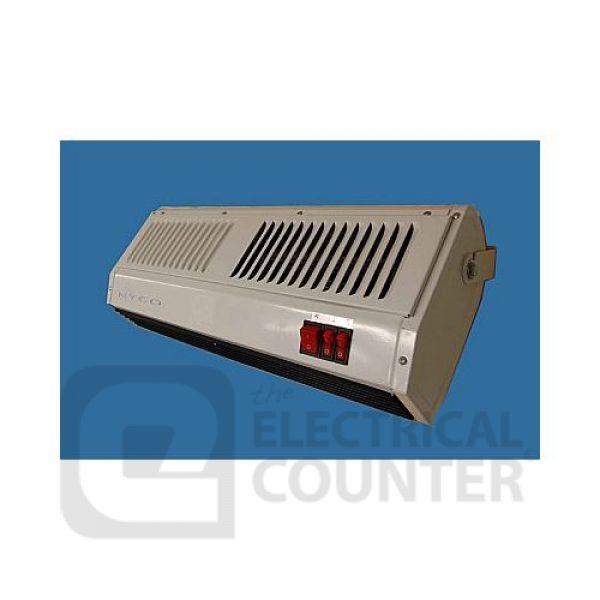 maestro over door air curtain fan heater 1 5 3kw