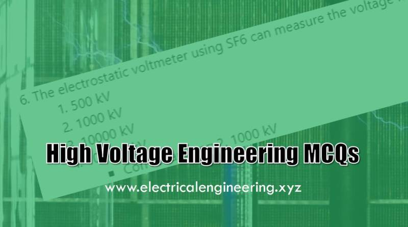 high-voltage-engineering-mcqs