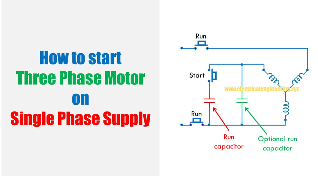 Three Phase Motor Start Capacitor Bread Maker Wire Diagram How To On Single Supply 1248x691