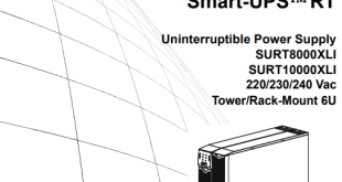 Installation and Operation Uninterruptible Power Supply