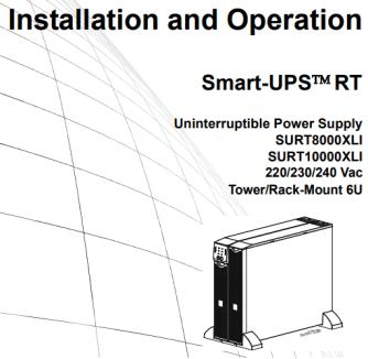 Installation and Operation Uninterruptible Power Supply