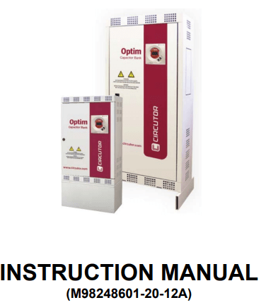 Circutor Optim Series Instruction Manual