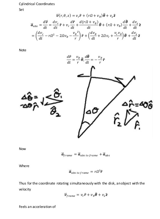 Derivation of Coriolis Effect 1