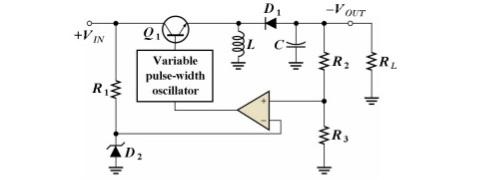 Switching Regulator Voltage-inverter configuration