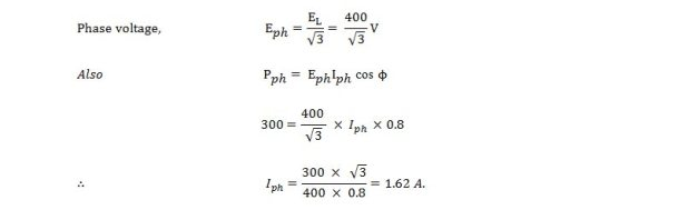 phase voltage calculation