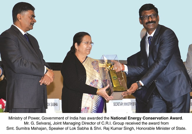 Electrical & Power Products Research & Development, Events, Seminars, Exhibitions on Electrical Power Distribution | CRI Pumps Wins National Energy Conservation (NEC) Award 2018 - Electrical India Magazine on Power & Electrical products, Renewable Energy, Transformers, Switchgear & Cables
