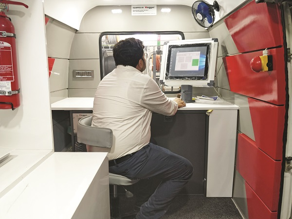 Transformer condition assessment with an integrated test van