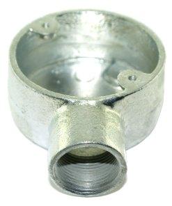 Terminal Metal Conduit Box (Stop End Box) 25mm Galvanised 2