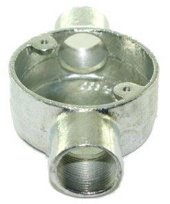 Through Metal Conduit Box 25mm Galvanised 2