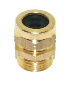 Brass 20mm TRS Cable Gland 8mm Dia. Entry Hole