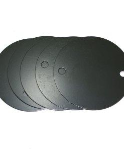 5 x 20/25mm BLACK ENAMEL Metal Conduit Box Lid No Branding