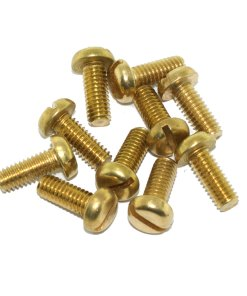 M4 Brass Pan Head Box Lid Screw For Conduit Boxes 10mm Long (10 Pack)