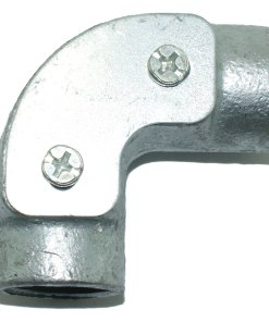 Inspection Elbow for 20mm Galvanised Conduit Front
