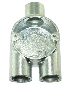 Y (3 Way) Metal Conduit Box 25mm Galvanised