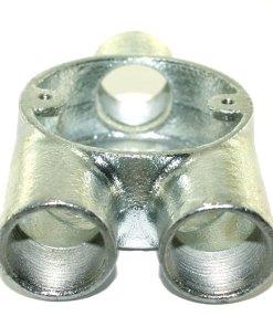 Y (3 Way) Metal Conduit Box 25mm Galvanised 2