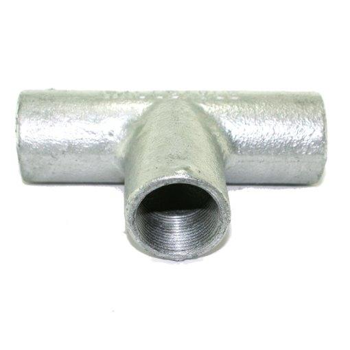 25mm Galvanised Metal Conduit Solid Tee 2