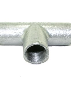 25mm Galvanised Metal Conduit Solid Tee 2