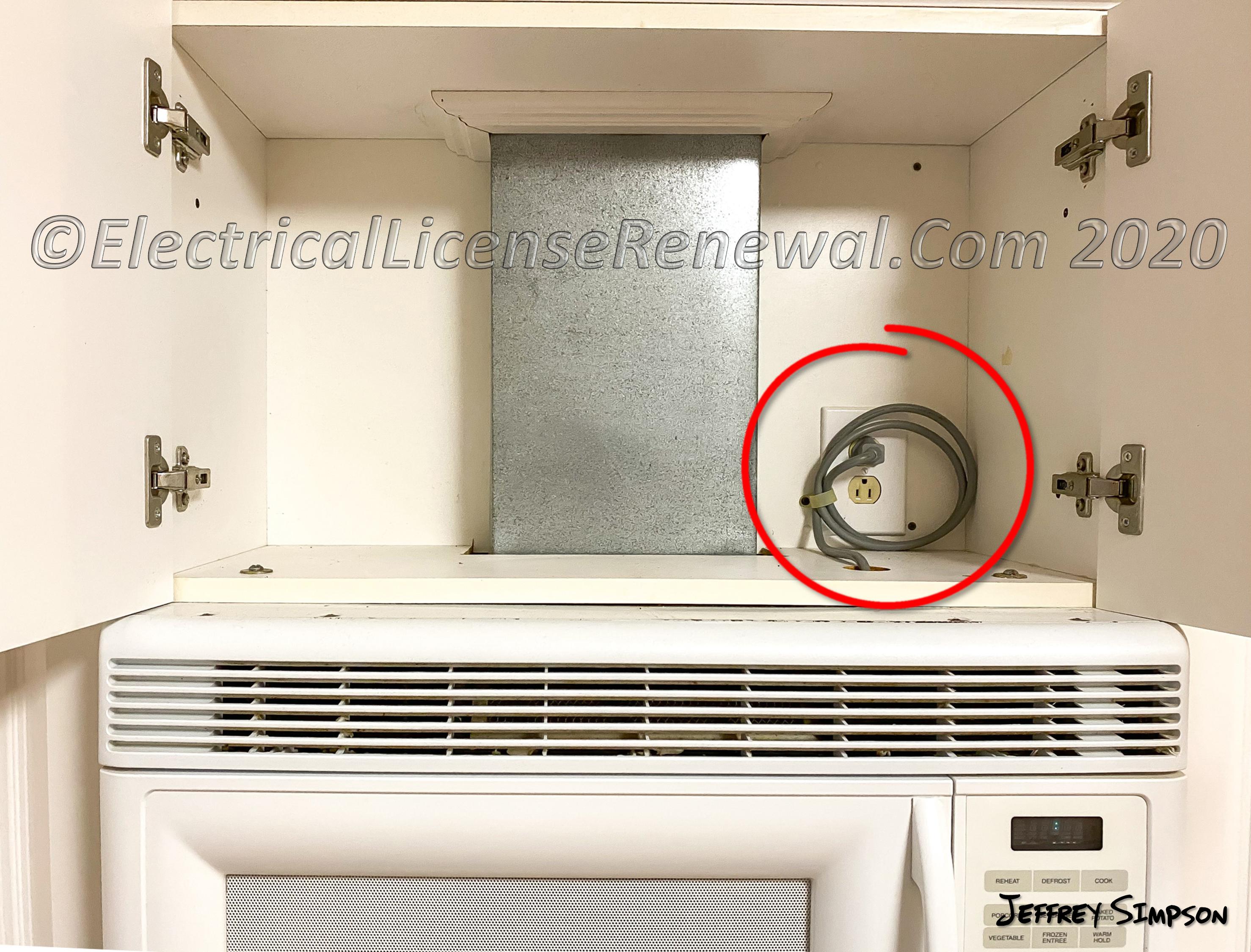 microwave oven range hood
